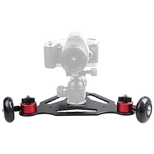 3 Wheels Desktop Camera Video Rail Track Slider Dolly Car for Canon 5D II 7D 60D DSLR Camera Camcorder DV