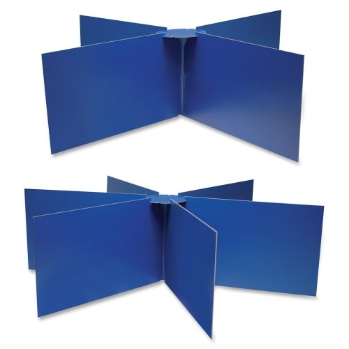 Wholesale CASE of 15 - Pacon Round Table Privacy Boards-Round Table Privacy Baord, 48''x14'', Blue by PAC