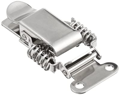 "Stainless Steel 304 Spring Loaded Draw Latch, Polished Finish, Non Locking, 3 21/64"" Length (Pack of 1)"