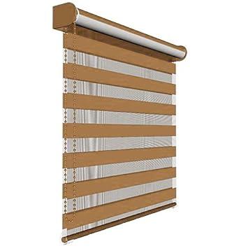 Victoria M. - Estor doble enrollable (para ventanas y puertas) 120 x 175 cm, Marrón: Amazon.es: Hogar