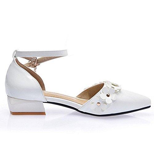 Sandales Mode fermés talons à féminine TAOFFEN Blanc qpECvwEO