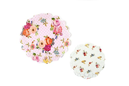 - Talking Tables Tea Party Floral Paper Doilies | Truly Scrumptious | Assorted Sizes, 24 Pack