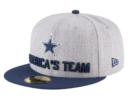 40cf6b29 New Era Dallas Cowboys 2018 NFL Draft Official On-Stage 59FIFTY Fitted Hat  - Heather Grey