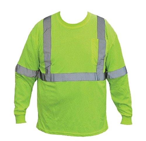 Class-2 Reflective Safety Shirt - Long Sleeve - Safety Yellow - (Class Yellow T-shirt)