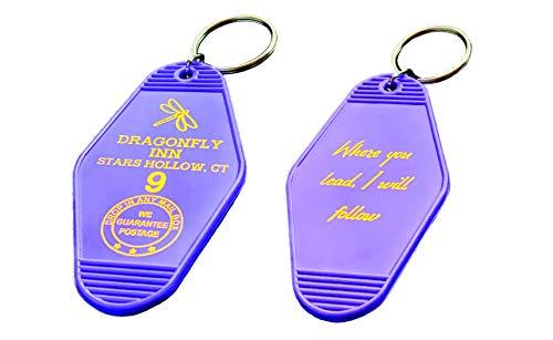 (Vintage Hotel Motel Keychain (Purple Dragonfly Inn) )