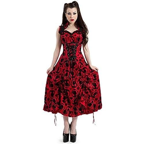 Jawbreaker Gothic Romantic Victorian Vintage Long Corset Prom Dress (S)
