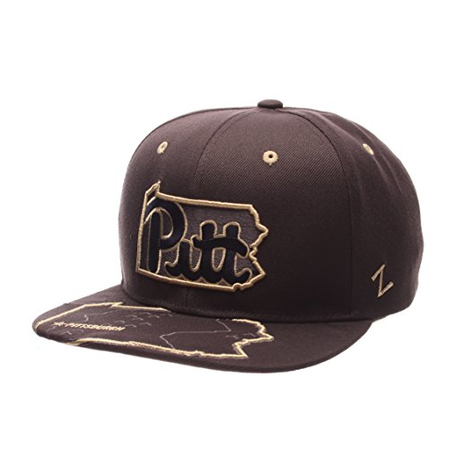 NCAA Pittsburgh Panthers Men's Stateline Snapback Cap, Adjustable Size, Charcoal