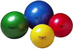 """Thera-Band Exercise Balls - SDS Anti-Burst Exercise Ball - Yellow - 45 cm - For Body Height 4' 7"""" - 5'"""