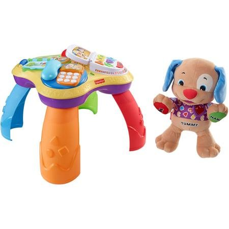 Fisher Price Laugh & Learn Table and Love to Play Puppy by Fisher-Price