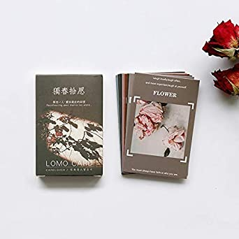 28 Pcs Box Vintage Flowers Creative Photography Postcards Lomo Small Cards Message Card Holiday Universal