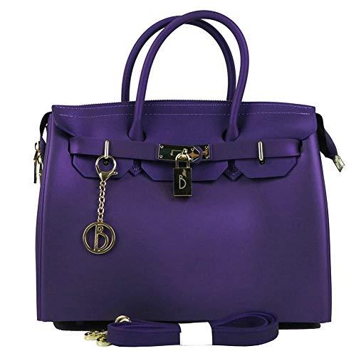 Bolso Señoras Moda Estilo Del Bagbb Las Cremallera De Purple Bolsos Los Pvc Viaje La Znnfgaq