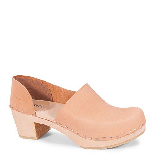 Product image of Sandgrens Swedish High Heel Wooden Clogs for Women | Brett