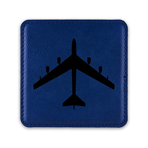B-52 Stratofortress Drink Coaster Leatherette Coasters bomber b52 V2 - Blue - Set of Six Coasters ()