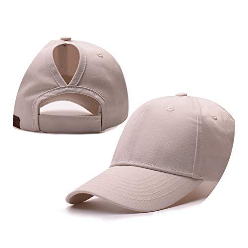 野球帽のキャップンスタイルのオープンポニーテールキャップ カスタマイズ 帽子,米色,CCマークなし