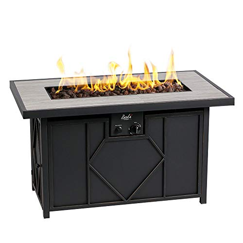 (BALI OUTDOORS Propane Gas Fire Pit Table Rectangular Tabletop 60,000BTU)