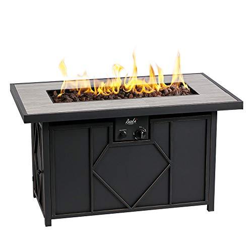 BALI OUTDOORS Propane Gas Fire Pit Table Rectangular Tabletop 60,000BTU