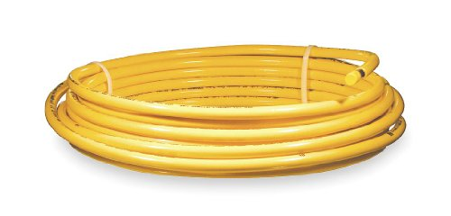 Plastic coated yellow coil, 3/8 OD 50 ft.