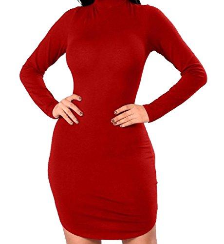 Elegante Vestito donne Dell'anca Senza Collo Rosso Coolred Croce Strappy Schienale Alto Pacchetto 5zqdEfEw