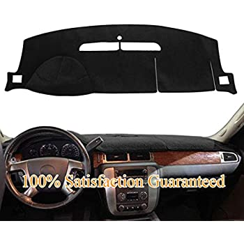 Seat Covers Unlimited Chevy Avalanche Dash Cover Mat Pad Custom Velour, Silver Fits 2007-2013