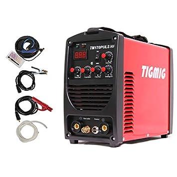 Soldador inverter TIG pulsado TM 170 Pulsaciones HF Start IGBT profesional Wig: Amazon.es: Bricolaje y herramientas