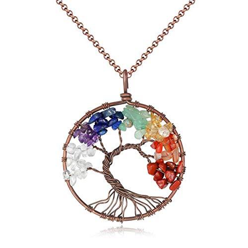 Chakra Crystal Necklace -...