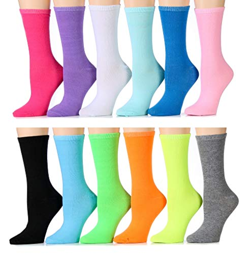 ns Cotton Crew Socks, Soft Touch, Many Colors (Pack A) ()