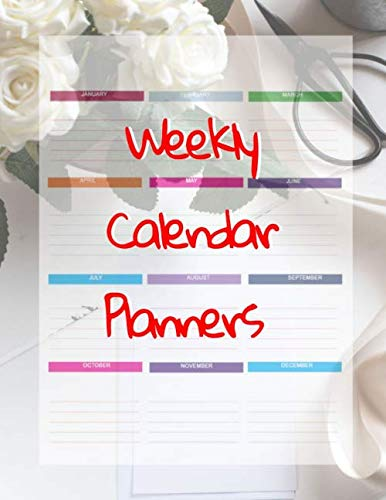 Weekly Calendar Planners: Calander Book 2020 Planner, Daily Weekly & Monthly Calendar Expense Tracker Organizer For Budget Planner And Financial Planner Workbook ( Book Monthly Organizer)