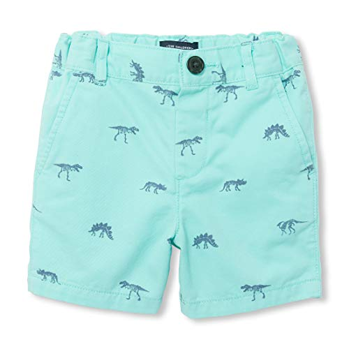 The Children's Place Baby Boys Printed Bermuda Shorts, Mellow Aqua, 12-18MOS Baby Boys Bermuda Shorts