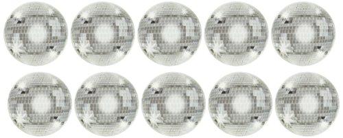 Beistle 54307 10-Pack Mini Disco Ball Cutouts, -