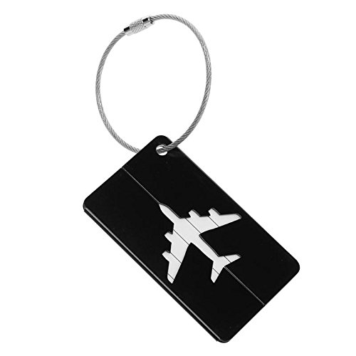 Aluminum Alloy Luggage Tag Checked Boarding Card Holder Airplane Pattern Travel Accessories Baggage Name Tags Outdoor Tools-Gold