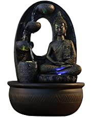 Zen'Light - Harmonie Fuente de poliresina, 26x 16x 40cm, Color Negro