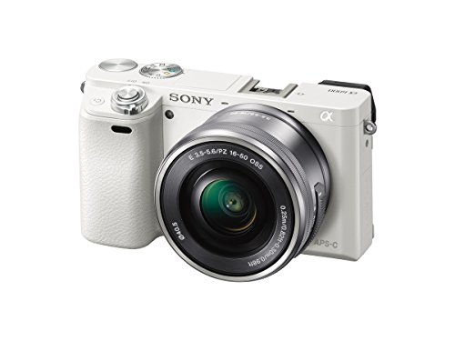 Sony Alpha a6000 Mirrorless Digital Camera with 16-50 mm Lens, 24 MP (White) -  ILCE6000L/W