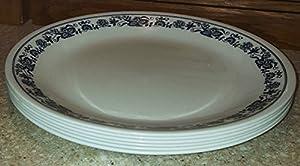 SET OF 6 - Corning Corningware Corelle Old Town Blue 10 Inch Glass Dinner Plates & Amazon.com | SET OF 6 - Corning Corningware Corelle Old Town Blue 10 ...