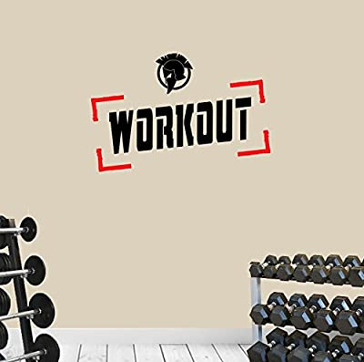 DesignDivil Gym Spartan WORKOUT All Sports Motivation Wall Art Decal Quote. Fitness Training