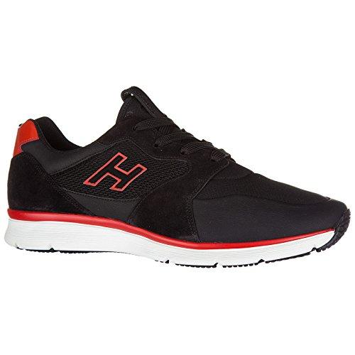 Hogan Scarpe Sneakers Uomo in Pelle Nuove h254 h Flock Nero Oficial PSKBk