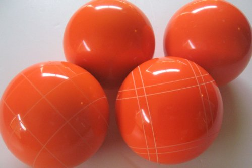 Premium Quality EPCO 4 Ball Set with orange bocce balls [Misc.] by Epco