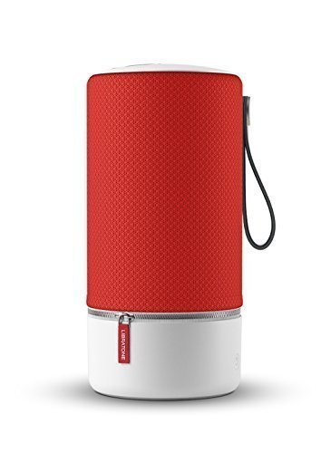 Libratone Zipp Wifi Bluetooth Smart Speaker, 360° Loud Stereo Sound with Dual Mic Build-in, 15W Woofer Deep Bass, 12 Hour Playtime, Airplay2 and Spotify connect, Work with Alexa(Victory Red)]()