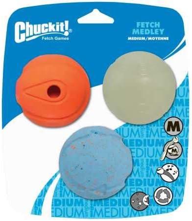Chuckit! Juguete para Perro Juego de Lanzamiento de Pelotas para Perros, Pack de 3 Unidades: Amazon.es: Productos para mascotas