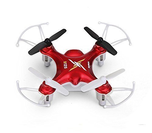 Syma X12S Nano 6-Axis Gyro 4 Channel 2.4G Transmitter RC Quadcopter with Headless function-Red by SYMA
