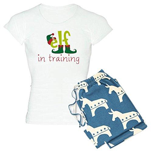 (CafePress - Elf In Training - Womens Novelty Cotton Pajama Set, Comfortable PJ Sleepwear)