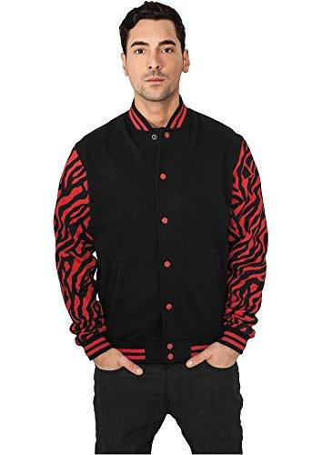 2-tone Zebra College Jacket red/blk M