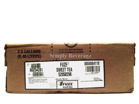 Fuze Sweet Tea Syrup 2.5 Gallon Bag in Box BIB Sodastream by Fuze by Fuze