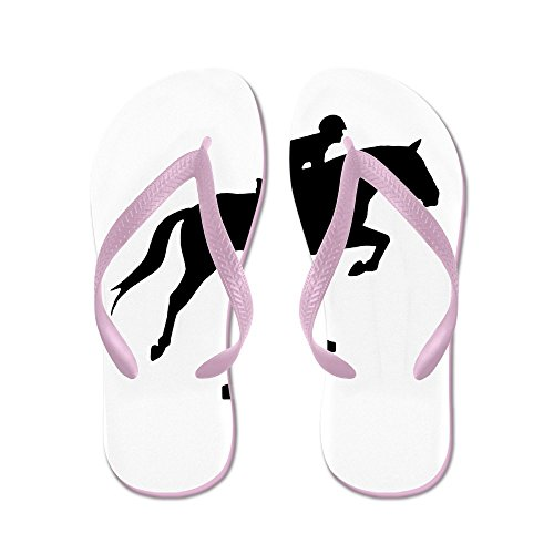 CafePress Hunter Jumper Over Fences - Flip Flops, Funny Thong Sandals, Beach Sandals Pink