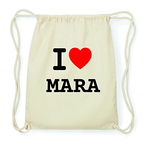 JOllify MARA Hipster Turnbeutel Tasche Rucksack aus Baumwolle - Farbe: natur Design: I love- Ich liebe sQRz15DA0