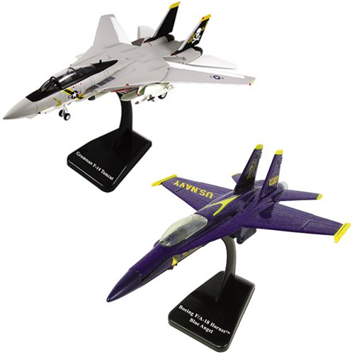 SMITHSONIAN InAir E-Z Build, 2-piece Set, F-18 Hornet Blue Angels & F-14 Tomcat Jolly Roger