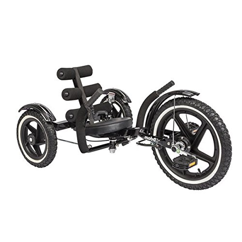 Mobo Mobito Sport The Ultimate Three Wheeled Youth Cruiser Bold Black Color