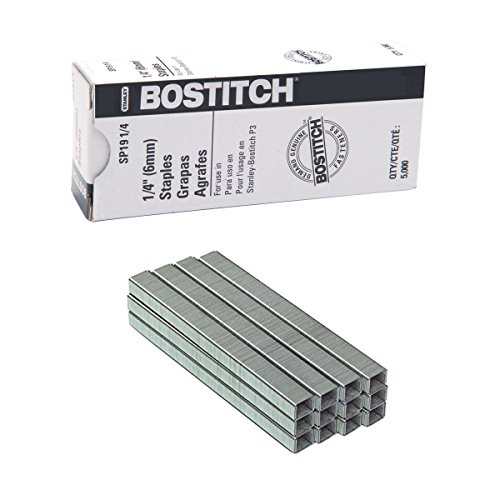 Bostitch Premium Staples for P3 Plier Stapler, 0.25-Inch Leg, 5,000 Per Box (SP191/4) (1 Box of 5,000) ()