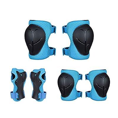 Vogvigo Skateboard Protect Knee Pad Kids Skating Cycling Running Wrist Guards Roller Skate Beginner Protective Set (Blue) : Sports & Outdoors