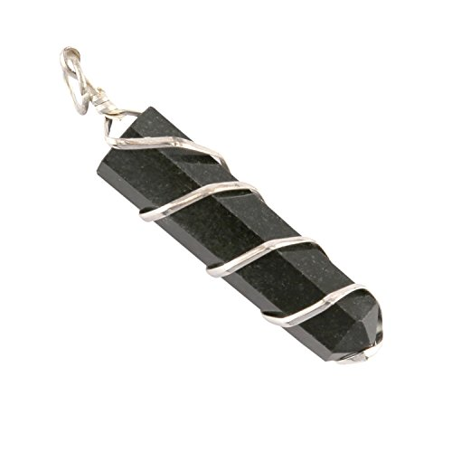 Aatm Chakra Healing Black Wired Pencil Pendant for Protection and Meditation