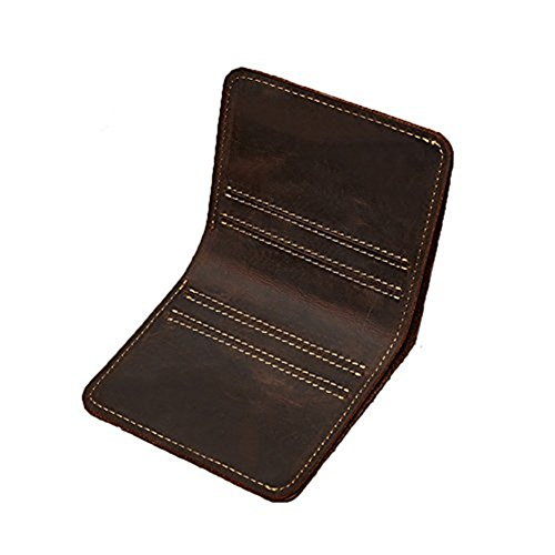 Color Block Genuine Leather - RFID Blocking Wallet for Men- Security Credit Card Holder Protector Slim Front Pocket Minimalist Genuine Leather Bifold Mens Wallet (Crazy Horse Coffee)